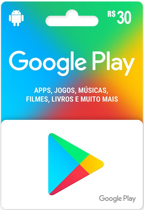 Gift Card Google Play R$30