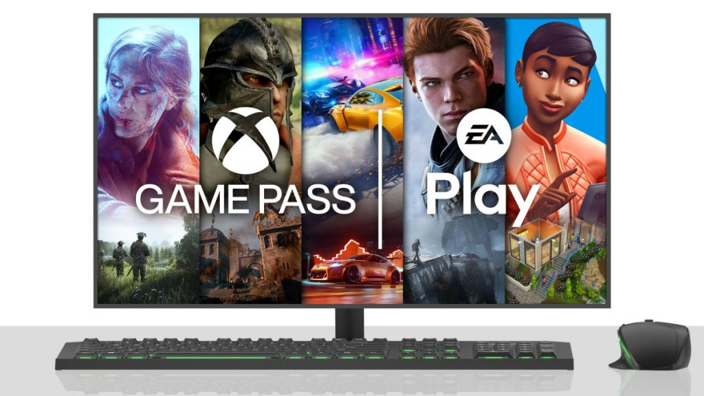 Xbox Game Pass e Game Pass ultimate com EA